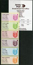 More details for jersey 2017 mnh post & go crests super league triathlon 6v col strip je02 stamps