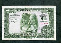 BILLETE 1000 PESETAS 1957  SIN SERIE 3473449    EBC -