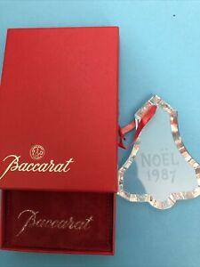 Baccarat  1987 Chrystal Ornament