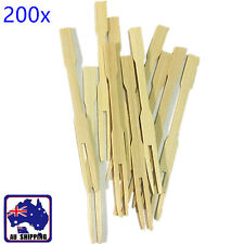 200x Bamboo Catering Forks Disposable Sticks Pick Finger Food BBQ HKFB61410x200