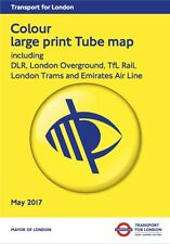 Colour Large Print London Underground Tube Map Poster Brand New 2017 Edition