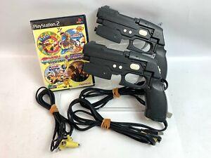 PS2 TIME CRISIS + Gunvari Colection + GUN CON 2 set 2 Controller  Japan Fedex