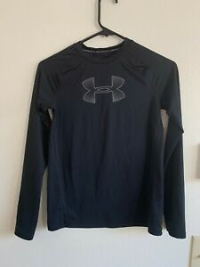 UNDER ARMOUR Size Youth Large heat gear Boys  Athletic Compression Long Sleeve S
