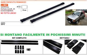 BARRE PORTATUTTO Premontate Specifiche FIAT PANDA I 1986>2002 Nero Acciaio 8821