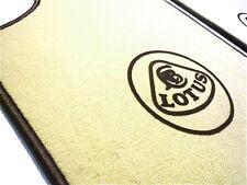 Cream velours carpet set for Lotus Esprit S1 S2 S3 SE 1976-1993 Logo black