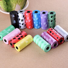 New 1Roll/15PCS Pet Dog Waste Poop Bag Printing Degradable Clean-up DispenserHFC