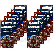 60 x Rayovac Special 312 Size Hearing aid batteries Zinc air 10 Packs EXP:2020