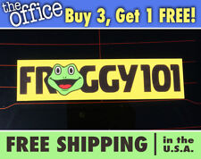 Froggy 101 Bumper Sticker, THE OFFICE Froggy 101 Bumper Sticker, Desk Sticker
