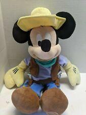 """Disney Store Mickey Mouse Cowboy Plush 18"""""""