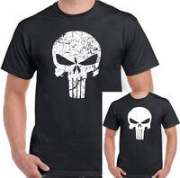 The Punisher Mens Gym T-Shirt Training Top Skull MMA UFC Bodybuilding Mua Thai
