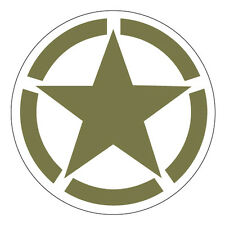 2 x Army Vehicle Stars Green Military Cool car, van decal sticker