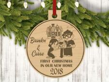 Personalized Carl and Ellie With Names and Year Engraved Holiday Christmas Ornam