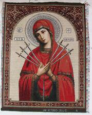 "Gobelin tapestry ORTHODOX Icon of Mother of God Theotokos Seven Arrows - 12""x16"""