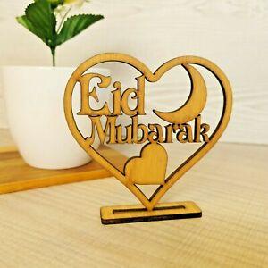Ramadan Eid Mubarak Wooden Ornament Islam Mosque Muslim Party Plaque Decoration