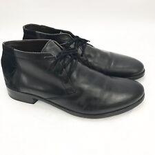 Fly London Men's Black Nubuck Suede Ankle Boots Shoes Size 44 / 11