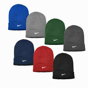 NIKE Sideline Beanie Embroidered Cuffed Knit Winter Dri-Fit Hat Cap Authentic