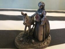 Myth and magic the virgin and unicorn pewter figure