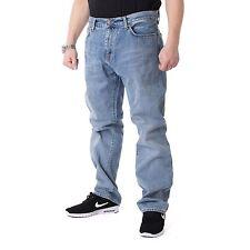 Carhartt Davies Azul Verdadero blanqueado Pantalones Vaqueros Hombre usedhell