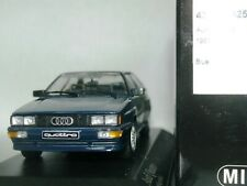 WOW EXTREMELY RARE Audi Quattro B2 1981 Blue Black Seats 1:43 Minichamps-RS4/RS6