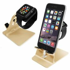 Apple Watch & iPhone Stand Holder Docking Station in Gold by Orzly®