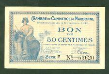 NECESSITE 50 CENTIMES CHAMBRE DE COMMERCE NARBONNE  ETAT SPLENDIDE lot 703