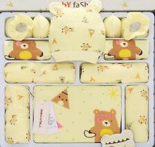 15pcs Yellow Bears Newborn Baby clothing Set Cotton winter clothes & Accesories