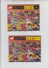 Corgi catalogue brochure E 1972+ 1971/72 état parfait verkaufsliste photos