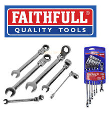 Faithfull 6 Pce Combination Flexi Head Ratchet Spanner 8mm-19mm Set, FAISPARAT6S