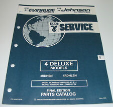Parts Catalog OMC Evinrude Johnson Outboards 4 Deluxe Models ET Katalog 05/1992!