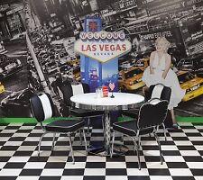 Bistrogruppe Paul King 2 Vegas American Diner 50er Jahre Retro 5tlg Schwarz Weiß