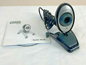 Creative Labs Webcam VF-0050 USB Wired Video Camera Built In Mic w/ CD Snapshot