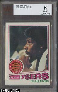 1977-78 Topps Basketball #100 Julius Erving Philadelphia 76ers HOF BVG 6