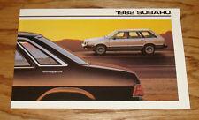 Original 1982 Subaru Full Line Sales Brochure 82 Sedan Hardtop Hatchback