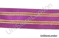 Ribbon Purple with 4 Gold Strips 38mm R936