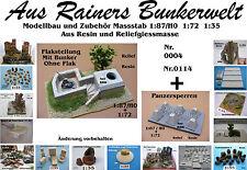 Für Diorama Nr.114 Flakstellung mit Bunker ohne Flak 1:72 Resin