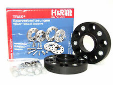 H&R 25mm DRA Bolt-On Wheel Spacers Audi/VW (5x112/57.1/14x1.5/Black)