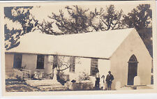 Postcard Rppc Old Devonshire Church 1716 England Graveyard Church yard unused