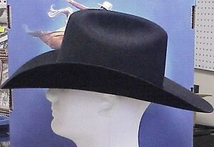 RESISTOL MIDNIGHT CATTLEMAN STYLE COWBOY WESTERN HAT