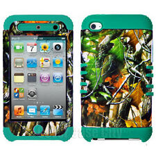 Hybrid Turquoise Impact Cover Mossy Oak Camo Case for Apple iPod Touch 4 4th Gen