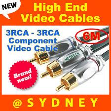 High-end NEOTECH Origin 6m 3RCA - 3RCA Component Video Cable-24k Gold Connectors