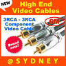 High-end NEOTECH Origin 6m 3RCA-3RCA RGB Component Video Cable Lead Gold Plated