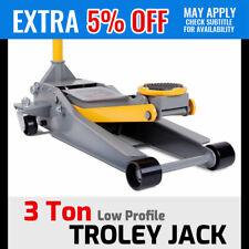 3ton Super Low Profile Car Trolley Floor Jack Hydraulic Dual Pump Quick Lifting