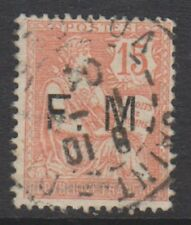 France - 1903, 15c Pale Red stamp - Optd F.M - Used - SG M314