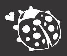 Ladybug Heart - Die Cut Vinyl Window Decal/Sticker for Car/Truck
