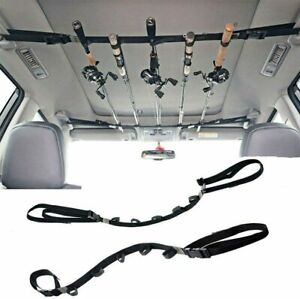 2pcs Car Fishing Rod Strap Fishing Rod Storage Rack Rod Carrier Holder for SUVs