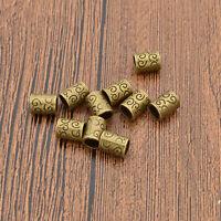 10 Pcs Cylinder Dreadlock Hair Beads Tibetan Decoration Hair Braid Accessories