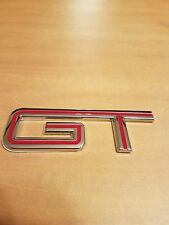 Ford Mustang GT Emblem 05-10 Fender Trunk Replacement Badge Decal - Red