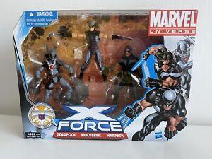 "Marvel Universe 3.75"" X-Force - (Deadpool, Warpath, Wolverine) RARE"