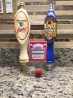 Lot of 3 Vintage Beer Tap Handles Budweiser, Yuengling & JW Dundee Honey Brown