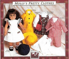 MOLLY'S PRETTY CLOTHES PATTERN! PLEASANT COMPANY~AMERICAN GIRL~1990! NEW~SEALED!